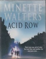 Acid Row Minette Walters 4 Cassette Audio Book NEW Abridged Thriller FASTPOST