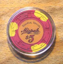(1) $5. MIZPAH Casino Chip - Tonopah, Nevada - 1984