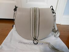 New Authentic Rebecca Minkoff $295 Mara Saddle Leather Bag Handbag Purse,Putty