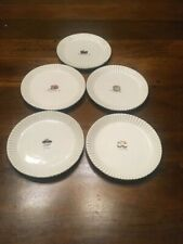 Rae Dunn VINTAGE Magenta Cheesecake Dessert Plates Set Of 5 Chocolate Marble Pie