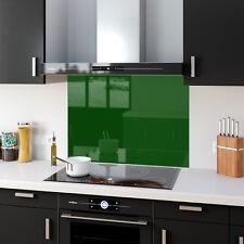 Shades of Green Toughened Glass Kitchen Splashback Panels Any Size & Colour