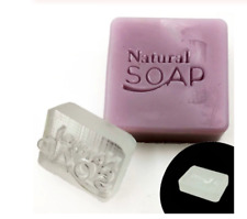Transparent Seal Natural Soap Stamp Tools Customize Acrylic Made With Handle New