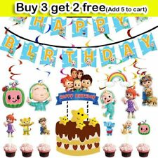 Cocomelon Kids Birthday Party Supplies Tableware Cups GiftBags Banner Decoration