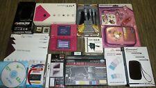 Console NINTENDO DSi Bundle rose jeux! Affaire secteur Voiture USB Chargeur Stylet Lot