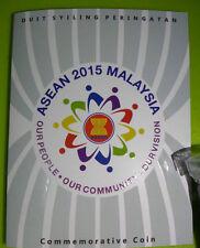 Malaysia ASEAN 2015  Coin Card  BU