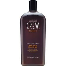 American Crew Firm Hold Styling Hair Gel 33.8 oz Bottle Thicker Extra Shine Look