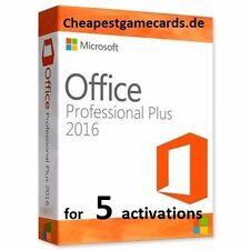 Microsoft Office Professional Plus 2016 MS Office for 5 pc Clé de produit par e-mail