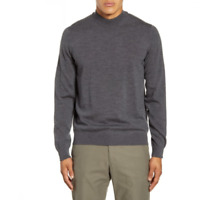 NN07 No Nationality Mens Pullover Mock Neck Wool Gray Sweater Size XL