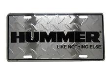 "Diamond Deck ""Hummer Like Nothing Else"" 6""x12"" Aluminum License Plate Tag"