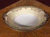 Vintage Noritake Glenmore China Serving Dish- Gold, Cream & White