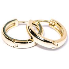 Men's  Hoop 14k Gold Plated 925 Sterling Silver Small Huggie Hoops Clip Earrings