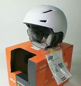 Spy Sender WHITE Snow Sports Helmet w/ MIPS Brain Protect Adult Size: MEDIUM