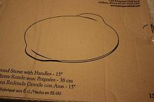 """Pampered Chef Large Round Stone w/ Handles 15"""" Pizza Stoneware  #1371 FREE SHIP!"""
