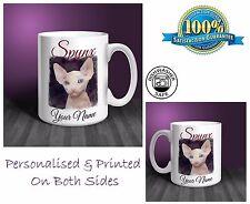 Spynx Cat Personalised Ceramic Mug: Perfect Gift. (CA06)