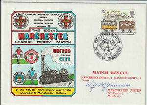 MANCHESTER UNITED FC -WILF McGUINNESS - SIGNED - ENVELOPE