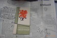 Universitätsstadt Greifswald 1956 Wegweiser durch die Stadt ,incl.Karte