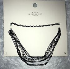 Last! Zara Gothic 2 Set Choker Necklace/ 4319/233/220 Edgy/chic