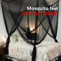 4 Corner Post Bed Canopy Mosquito Net Full Queen King Size Netting Bedding NW
