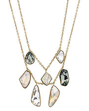 "Swarovski ""Prisma"" 23k Yellow Gold Plated Crystal Necklace 5385837"
