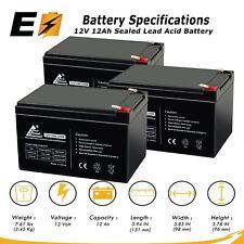 3 Pack: 12V 12AH F2 RAZOR DIRT BIKE MX5 Replacement Battery