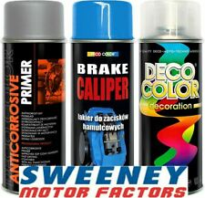 DECO COLOR BRAKE CALIPER KIT 3 PIECE DRUM PRIMER SPRAY, PAINT SPRAY & CLEAR COAT