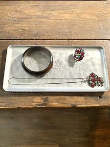 Vintage Hammered Aluminum Fashion Tray ~ Versatile ~ Home Decor ~ Fast Shipping
