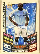 Match Attax 2012/13 Premier League - #125 Mario Balotelli - Manchester City
