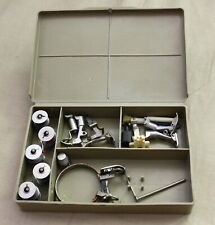 Vintage Old Style Bernina green Accessory Box Presser Feet