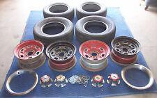 "14"" camaro z28 rally Rims w/ center caps chrome rings & tires {old School}"