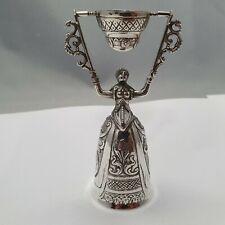 Hochzeitsbecher Silber 800 punziert h: 10 cm Hanau Handarbeit #1