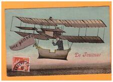 TOULOUSE (31) MILITAIRE PILOTE d'AVION BIPLAN / une Pensée de ,,, en 1910