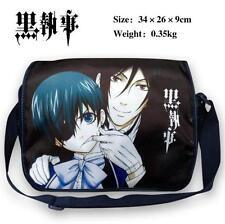 Anime Kuroshitsuji Black Butler Sebastian Michaelis Ciel Messenger Shoulder Bag