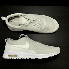 0c2f36b63e Nike Air Max Thea Low Top Sneakers Shoes 9 Light Bone Sail White Gray  599409-