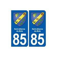 85 Saint-étienne-du-Bois  blason autocollant plaque stickers ville droits