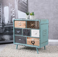 Loft Dresser Patchwork Wardrobe Cabinet with Drawers Industrial Furniture