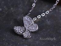 Silberkette mit Anhänger Schmetterling Mit stein Glänzend Zirkonia Mädchen