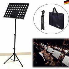 Notenständer Notenpult Orchesterpult höhenverstellbar Metall mit 2 Taschen DHL