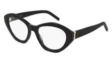 Brand New Saint Laurent Eyeglasses SL M60 OPT 001 Black Oval Woman Authentic