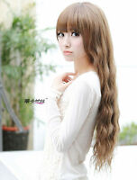 Fashion Theater Cosplay Party Wig Womens Girls Long Wavy Hair Full Head Wigs
