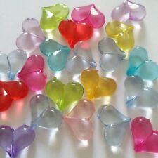 25pcs Chunky Heart Beads Acrylic 20x18mm Jewellery Craft Supplies B27675