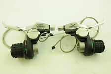 PAIR SHIMANO SB-C201/C202 24 SPD 8x3 REVO GRIPSHIFT INDEX SHIFTER V BRAKE LEVER