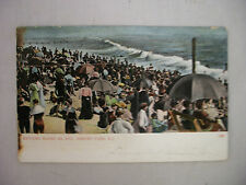 VINTAGE POSTCARD A BATHING SCENE AT 4TH AVENUE IN ASBURY PARK NEW JERSEY 1907UDB