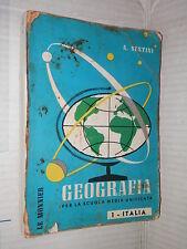 GEOGRAFIA Vol 1 ITALIA Aldo Sestini Le Monnier 1962 libro manuale corso scuola
