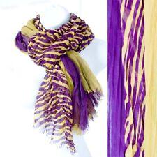 LSU Tiger Scarf Game-day Apparel Purple Yellow