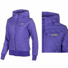 Asics Padded Zip Up Violet Purple Womens Hooded Coat Jacket 113981 0274 X7B