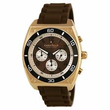 Caravelle New York by Bulova 45A114 Mens Brown Dial Chronograph Quartz Watch