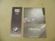 1975 BMW 3.0Si full colour dealer sales brochure with colour upholstery chart