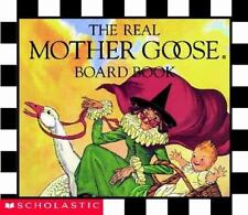 THE REAL MOTHER GOOSE Board Book Children's classic CHECKERBOARD Nursery rhymes
