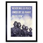 War WWII UK Churchill Pilot Battle Britain Quote Framed Wall Art Print