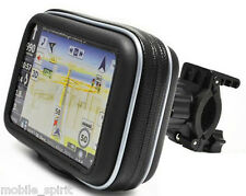 "Waterproof Motorcycle/ATVs/Snowmobiles GPS Case + Mount for 4.3"" GPS SatNav"